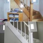 escalier avant/ après...